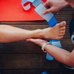Foot Strapping Healing Injury